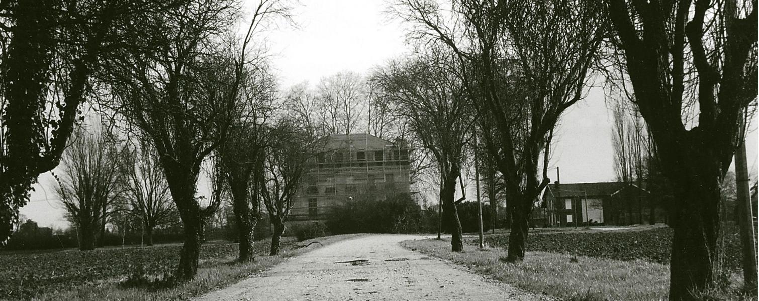 Photo ancienne de 1927 : allée du château avant travaux