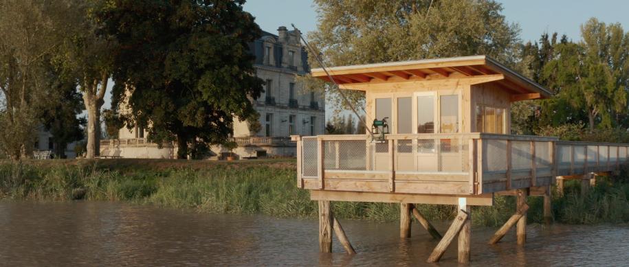 Pêche en Garonne depuis le carrelet du Château