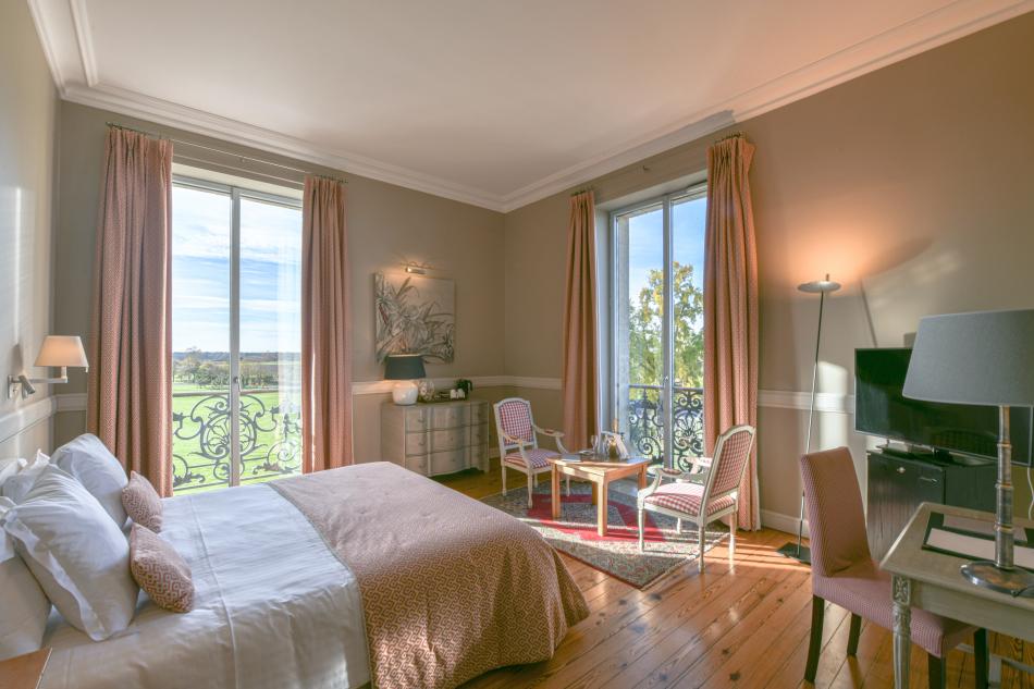 Chambre double de luxe avec vue jardin du Château
